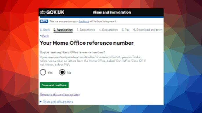 Home Office Reference Number for Life in The UK